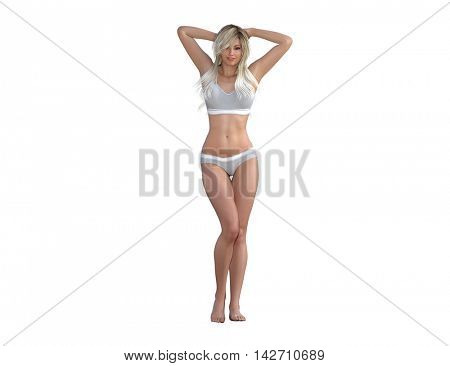 Body Contour Shaping and Aesthetic Industry as a Concept 3d Illustration Render