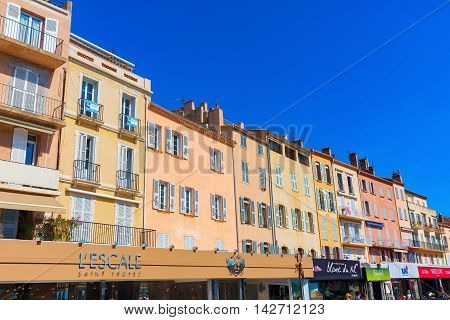 Buildings At The Harbor Of Saint Tropez, France