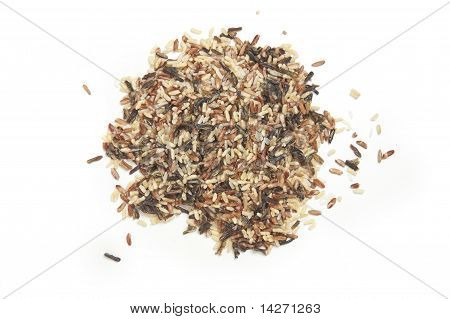 Pile Of Wild Rice From Above