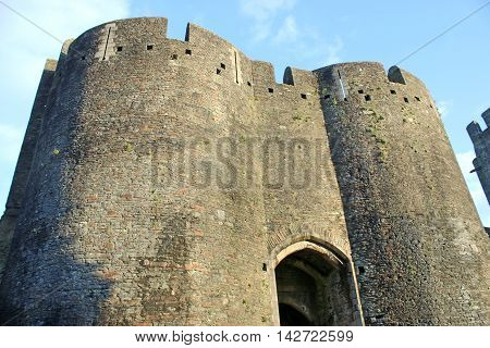 Gatehouse to the ruins of Caerphilly Castle, Wales