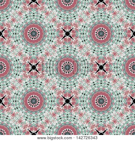 Seamless pattern with ethnic multicolor ornament. Abstract background for design