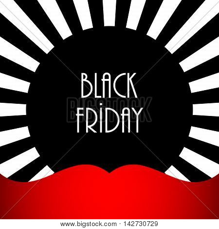 black friday abstract banner, vector design, eps10