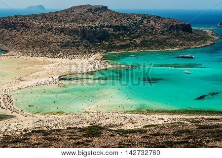 Crete, Greece: Balos Lagoon in the summer