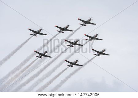 WARSAW POLAND - AUGUST 15 2016: Armed Forces Day in Poland. Armed Forces Day is a national holiday commemorating the anniversary of the 1920 victory over Soviet Russia at the Battle Of Warsaw during the Polish-Soviet War.