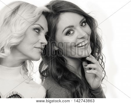 Portrait Of Adult Daughter With Mother