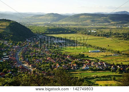Deva city in Transylvania, Romania, Europe