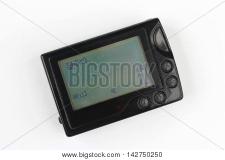 electronic text pager with a large screen