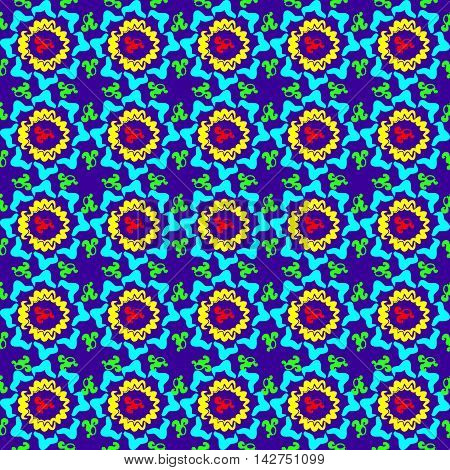 Cheerful bright colorful background. Bright circular ornament for a pattern or background.