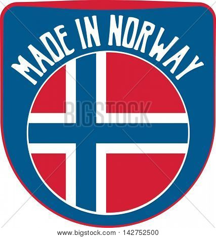 Made in Norway badge sign. Vector illustration