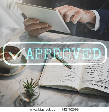 Approved Checked Accessible Authorized Security Concept