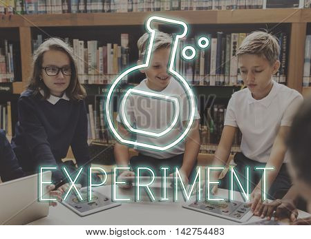 Flask Experiment Science Laboratory Learning Concept