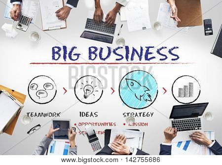 Big Business Plan Growth Strategy Concept