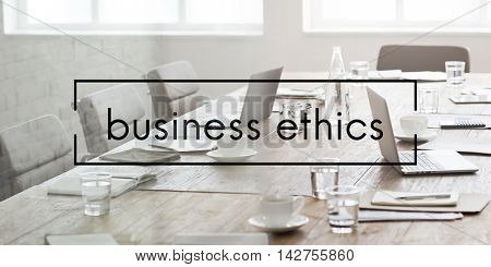 Business Ethics Integrity Moral Policies Concept