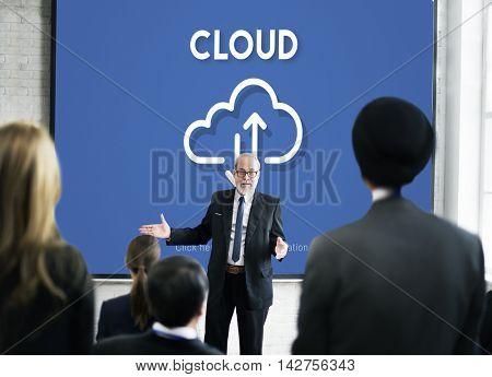 Cloud Computing Network Data Digital Storage Concept