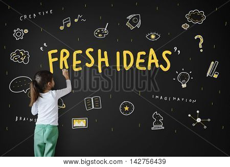 Creation Ideas Light Bulb Imagination Arts Development Concept