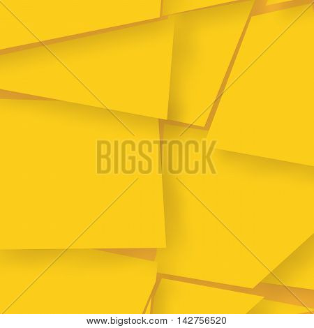 Abstract background consisting of bright yellow elements. Vector illustration. It includes space for writing text. Broken background