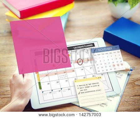 Calendar Planner Planning Organixer Note Concept