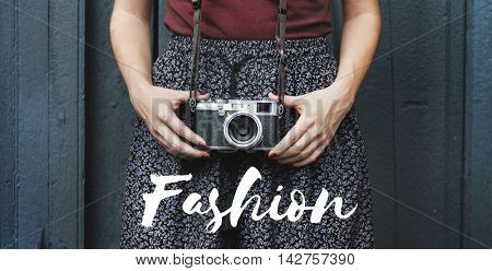 Fashion Beauty Clothes Design Model Posing Concept