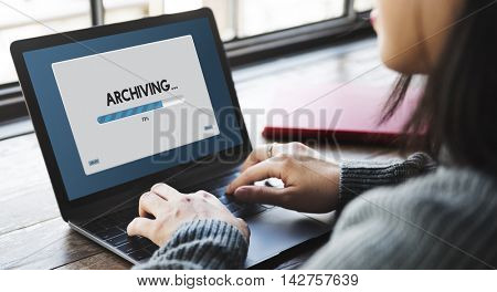 Connection Data Streaming Download Archiving Concept