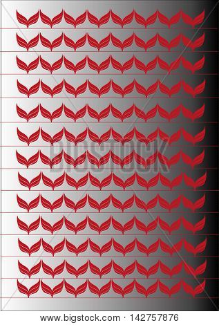 Polka Dot and Chevron seamless pattern set - vector illustration