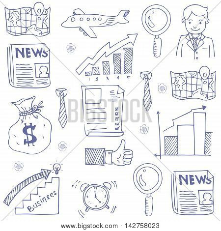Doodle of business hand draw stock collection