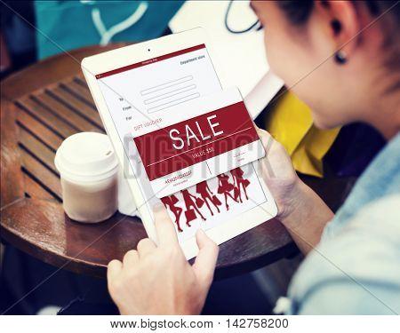 Sale Voucher Online Shopping Concept