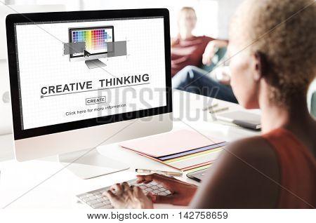 Creative Thinking Design Imagination Inspiration Concept