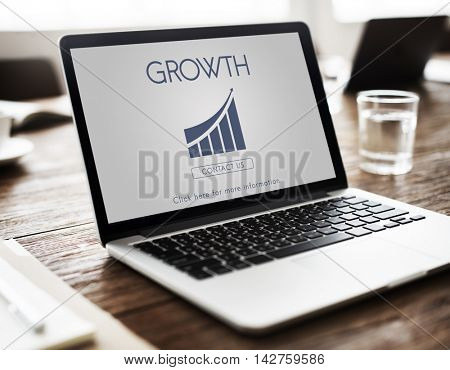 Business Success Report Graph Concept