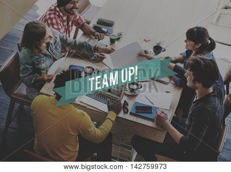 Team Up Support Strategy United Alliance Concept