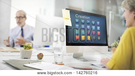 Application Business Communication Graphic Concept