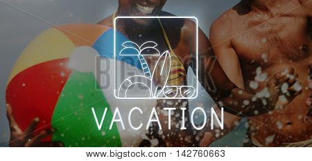 Summer Beach Sea Coast Graphics Concept