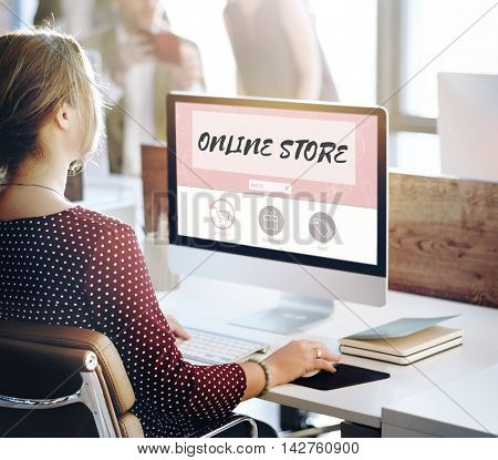 Online Store Internet Shopping Concept