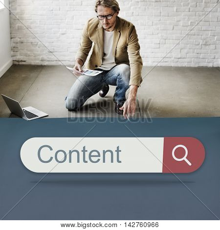 Content Search Engine Browser Find Looking Concept