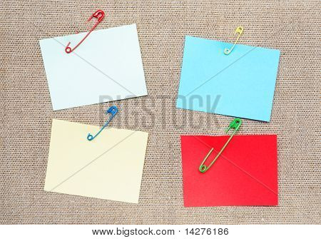 Adhesive Notes And Safety Pins