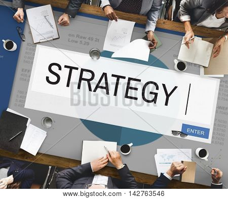 Strategy Analytics Solution Business Concept