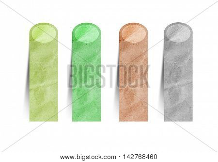 paper craft stick on a white background