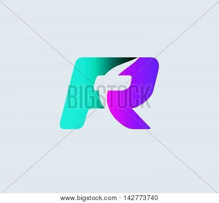 Letter R logo. Letter R logo icon design template elements