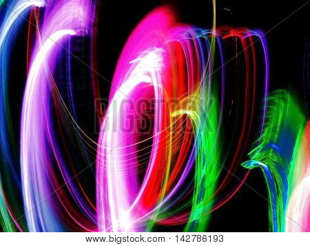 Abstract of light motion on the dark background