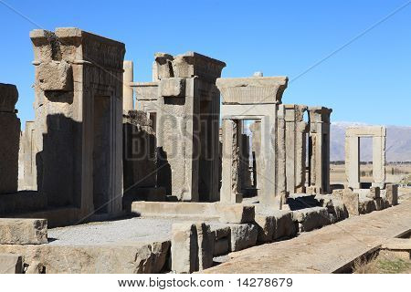 Ruins of ancient Persepolis in Iran