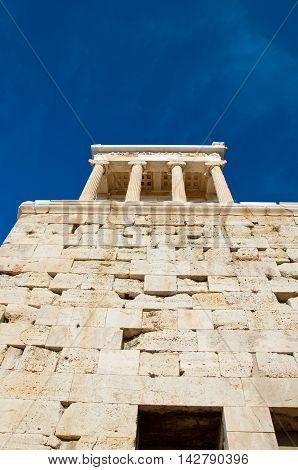 The Temple of Athena Nike. Athens Greece.