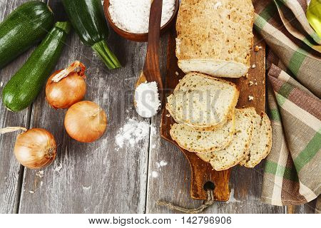 Bread With Zucchini And Onion
