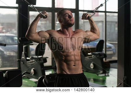 Biceps Exercise In A Gym