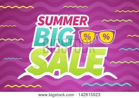 Seasonal summer big sale business background banner. editable. vector.