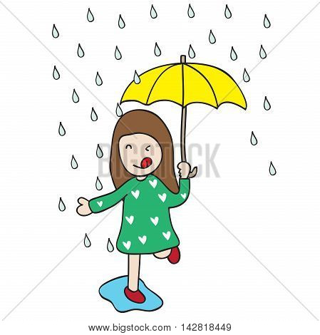 I love rainy season because sometime I want to get wet