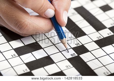 Solving Crossword Close up