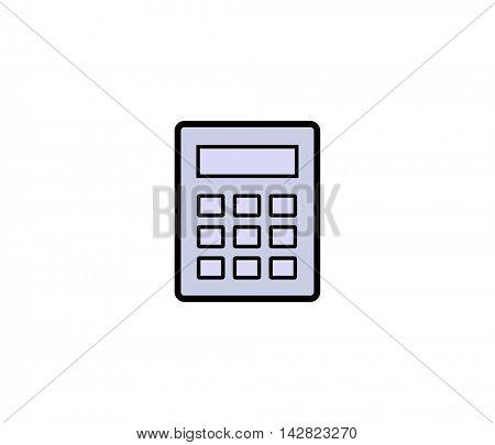 Calculator symbol icon. Vector illustration