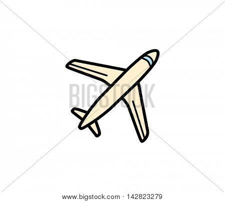 Plane aero cargo icon. Vector illustration