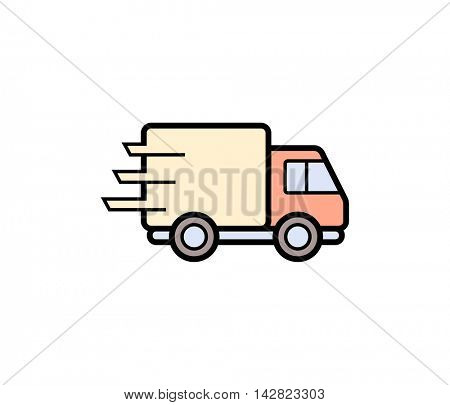 Shipping truck icon. Vector illustration