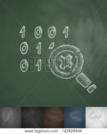 cipher icon. Hand drawn vector illustration. Chalkboard Design