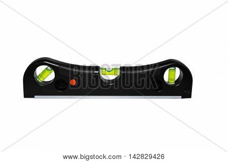 Level construction laser on an isolated background